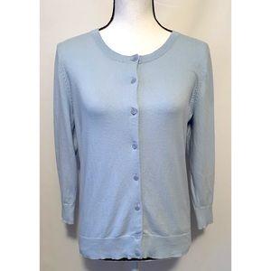 Talbots size 14 petite light blue sweater